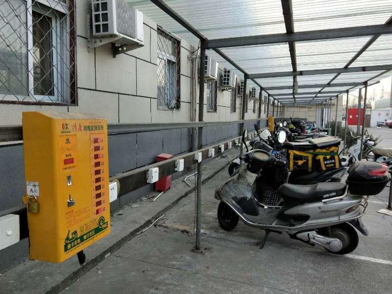 丰台区卢沟桥街道设立电动自行车充电车棚除火患解民忧