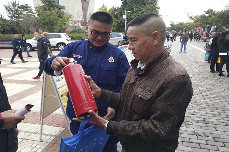 """文山消防冬季宣传锁定""""五类人群"""""""