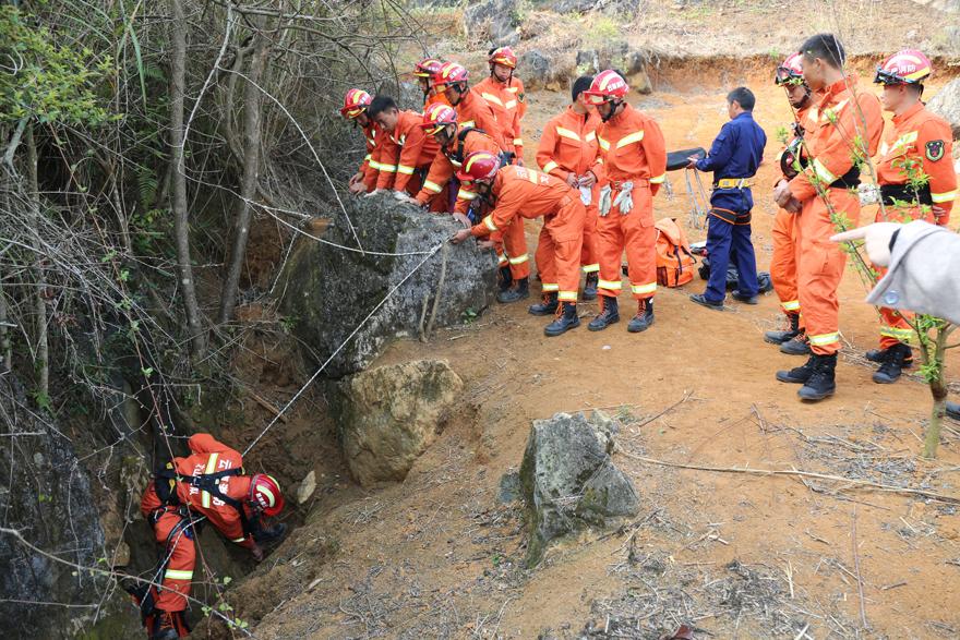 文山消防实地开展山岳洞穴救援培训