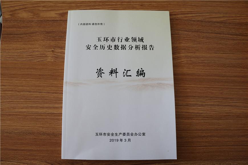 浙江玉环编印《全市行业领域安全历史数据分析报告》